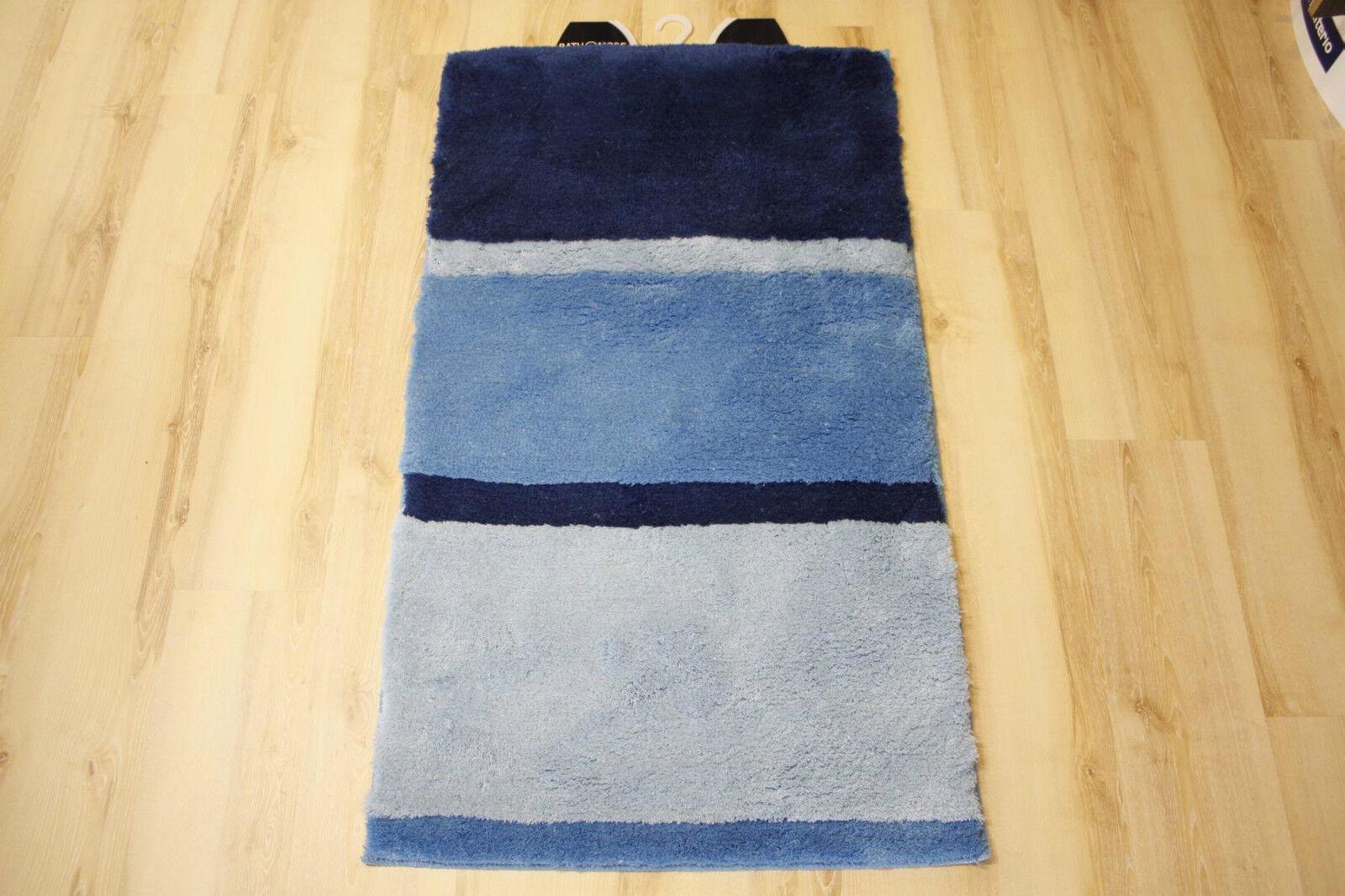 Badteppich Badematte Mali Blau 80x150 cm
