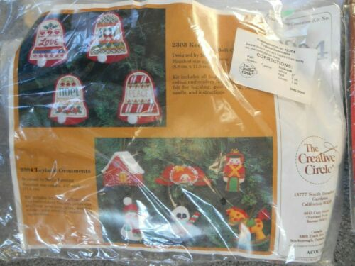 Your Choice Needlepoint Candlewicking Cross Stitch Felt Ornaments Embroidery Kit