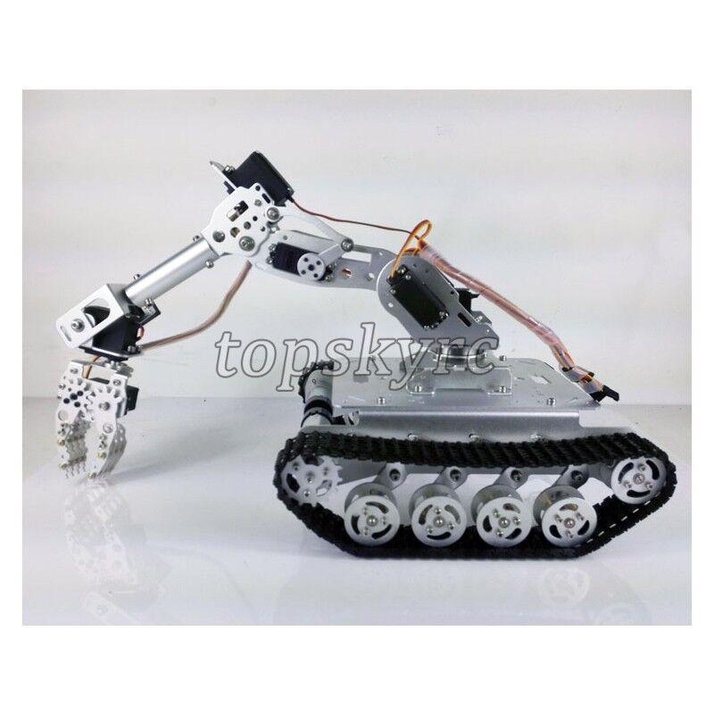 Absorber RC Tank auto WiFi  + 7DOF Robot Arm Gripper W  Servos Smart RC Robot Kit  acquistare ora