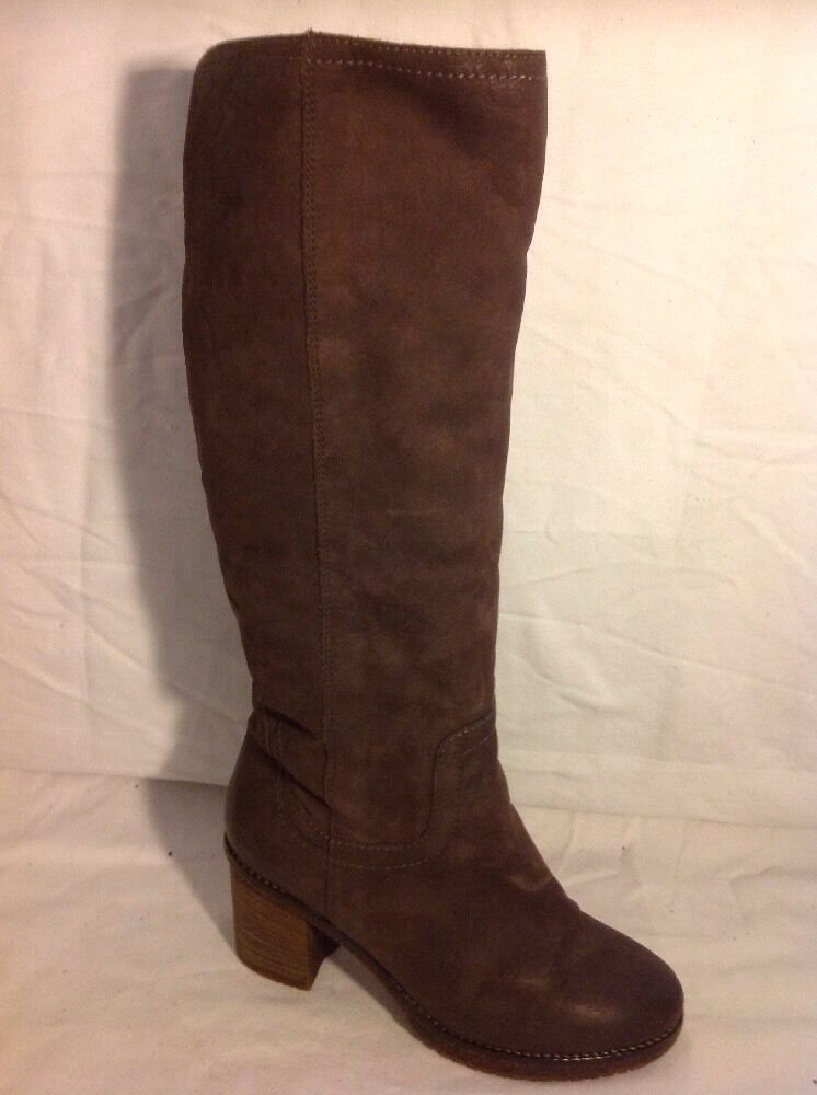 Carvela Brown Knee High Leather Boots Size 37