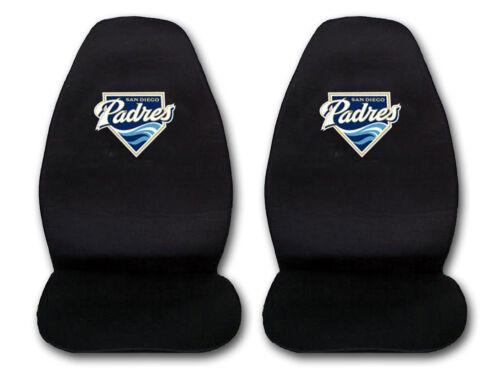2pc Black Baseball San Diego Padres Seat Covers High back Universal