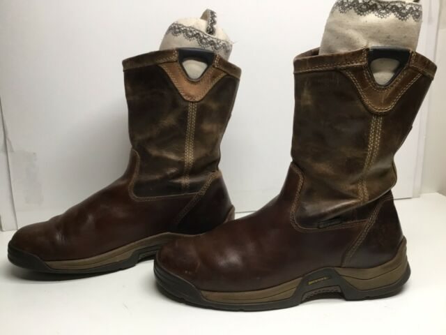 VTG MENS BROWNING EH BUCKAROO WORK BROWN BOOTS SIZE 9 M