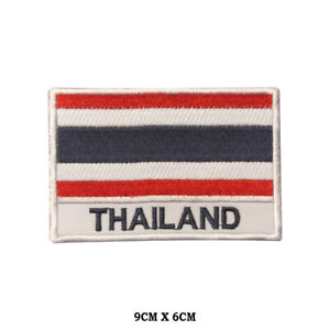 THAILAND-National-Flag-Embroidered-Patch-Iron-on-Sew-On-Badge-For-Clothes-etc