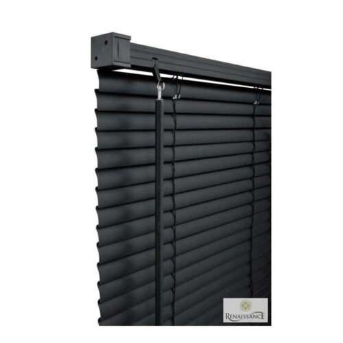 Ajustement Facile PVC Store Vénitien Fenêtre Aveugle toutes tailles Drop 150 cm-Noir//Blanc