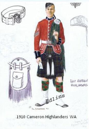 1910 Cameron Highlander WA postcard Phil Rutherford 1993