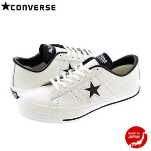 CONVERSE ONE STAR J BLACK WHITE Japan limited model MADE IN JAPAN ... 178f4ba58