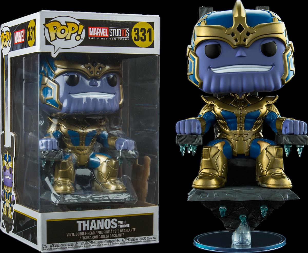 Marvel Studios  i PRIMI DIECI ANNI-Thanos su un trono 8  DELUXE VINILE COR Pop