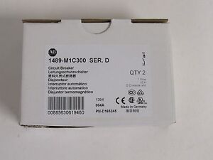 SET OF 2 PCS. ALLEN BRADLEY 1489-M1C300 277VAC 30 AMP 1 POLE CIRCUIT BREAKER NIB