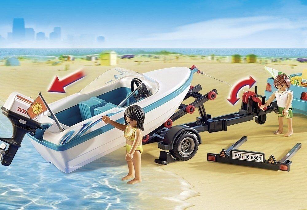 Playmobil summer fun 6864. 6864. 6864. pick up mit Stiefel. Motor unter Wasser. der 4-10 Jahre a82ac7