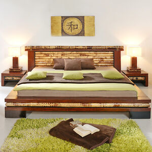 bambusbett 200x220 eco berl nge holzbett doppelbett bett futonbett bettgestell ebay. Black Bedroom Furniture Sets. Home Design Ideas