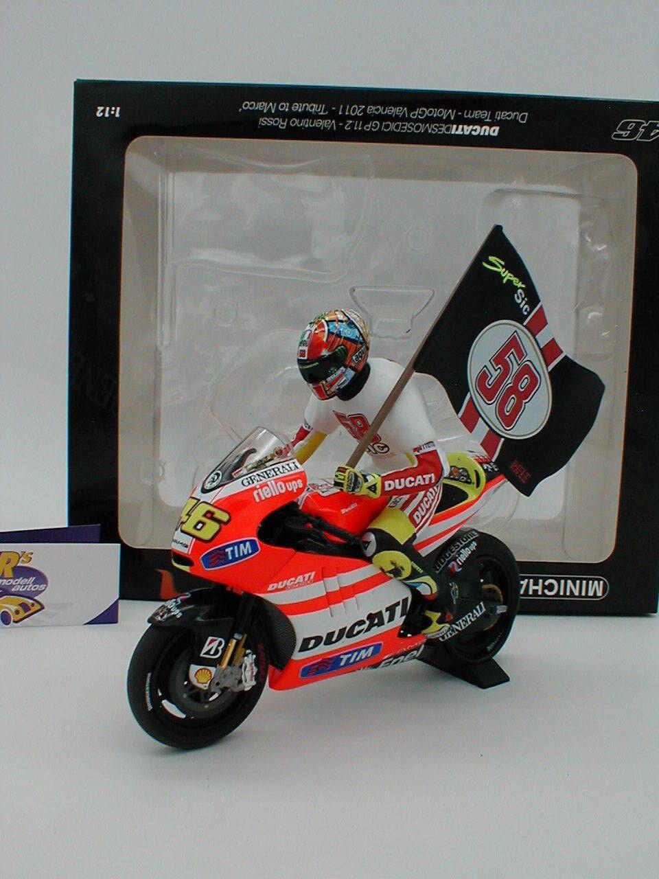 Minichamps 122112146 - Ducati Desmosedici GP Moto GP 2011 Valencia V.Rossi 1 12  | Economy