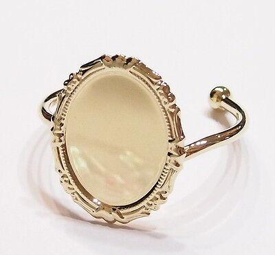 40x30 mm Gold Plated Victorian Art Deco Vintage Decorative Cuff Bracelet Setting