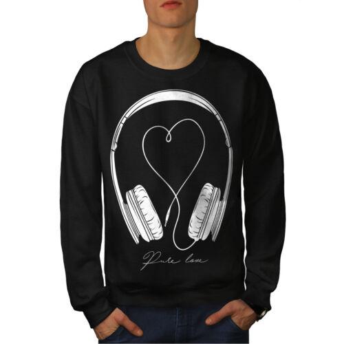 Music For Love New da Felpa uomo Black wq4gIn6x