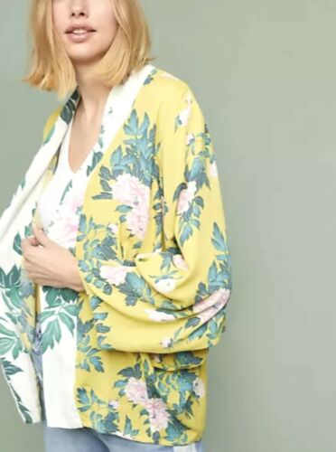 anthropologie kimono Elma Multicolor Floral One Si