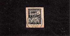 TAHITI, 20C BLACK WITH OVERPRINT POSTAGE DUE  USED ON PIECE 1893