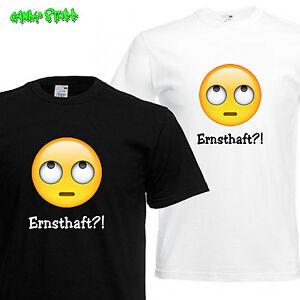 Ernsthaft T Shirt Lustige Coole Sprüche Whatsapp Emoji