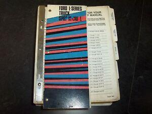 1985 ford l9000 l8000 ln9000 truck shop service repair manual 6 6l rh ebay com Ford L7000 1988 Ford L8000