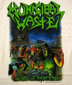 MUNICIPAL-WASTE-cd-cvr-THE-ART-OF-PARTYING-Official-White-SHIRT-MED-new