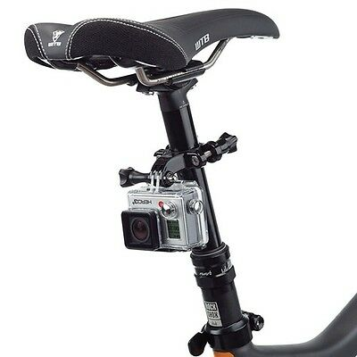 Black Bike Handlebar Seatpost Pole Mount for Gopro Hero 3 2 1 Camera Accessories