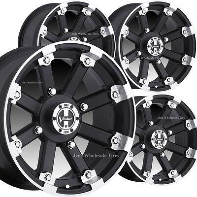 4) 14x8 4/4 2+6 GOLF CART RIMs WHEELs fits EZ-Go Club Car Yamaha Bad Boy Harley