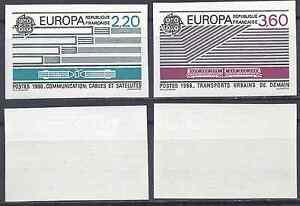 FRANKREICH-EUROPA-NR-2531-2532-BRIEFMARKE-NICHT-GEZAHNT-IMPERF-1989-LUXE-MNH