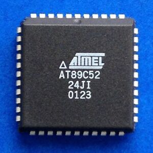 Details about AT89C52-24JI (AT89C52-24JC) PLCC-44, Atmel 8-bit Microchip,  24MHz, local stock