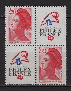 * (neuf**mnh Tbe) Timbres / Bloc 1987 N°2461 Philexfrance 89 / Marianne Liberté Soyez Amical Lors De L'Utilisation