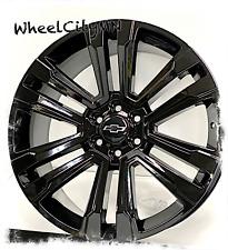 24 Inch Gloss Black Chevy Silverado Tahoe Suburban Oe Replica 5822 Wheels 6x55