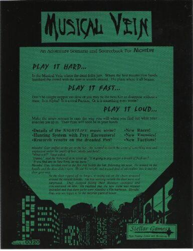 In The Musical Vein Adventure and Sourcebook *FS NightLife