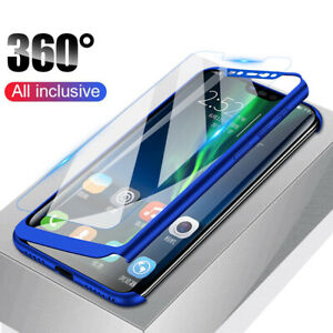 best loved 35f8a 4f16f Details about Luxury 360° Protective Case Cover+Tempered Galss For Xiaomi  Redmi Note 7 6 Pro