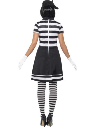 Ladies Mime Artist Lady Fancy Dress Costume French Mime by Smiffys New