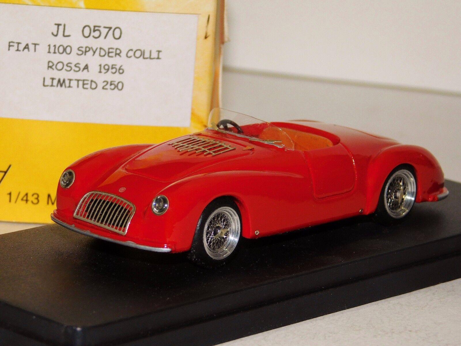 FIAT 1100 SPYDER COLLI  ROSSA 1956 LIM. JOLLY JL 0570 1 43