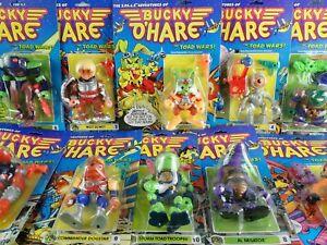 Vintage-1991-Bucky-O-039-Hare-figuras-de-accion-cardada-Moc-sin-abrir-Toys-elegir