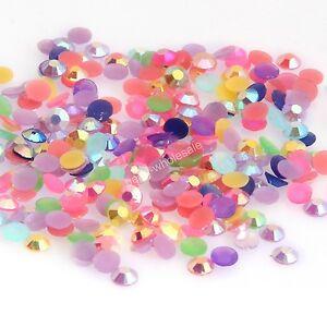 (2000pcs)12g Candy Color Half Round Acrylic Bead Flatback Beads DIY Craft 3mm