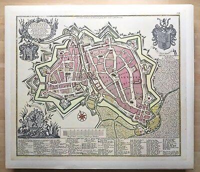 10x Hannover Stadtplan,65 X 57 Farbig,reprint Nach Matthäus Seutter Um 1750,neuw Attraktive Mode