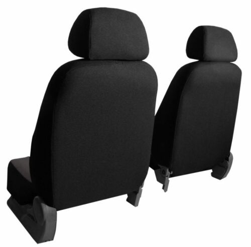 Black Eco-Leather Universal VAN Seat Covers 1+1 for VW Transporter T4 T5