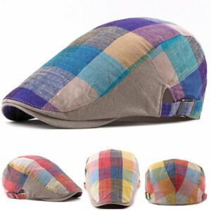Plaids Duckbill Newsboy Gatsby Hat Golf Driving Cabbie Beret Ivy Cap ... 9878e5dc8fb2