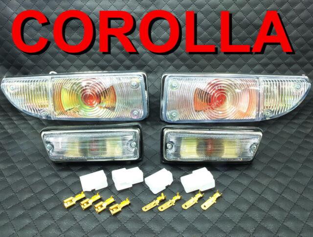 CLEAR TURN LIGHT SET FIT FOR TOYOTA COROLLA KE20 KE25 KE26 TE21 TE27 TE28