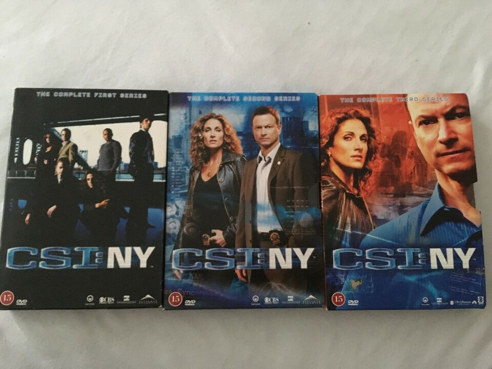 CSI: NY sæson 1-3, DVD, krimi