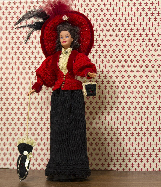 1896 Muñecas de crochet Paradise viajando Disfraz Para Barbie