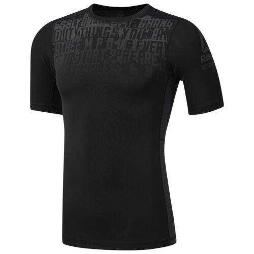 Reebok ACTIVCHILL Graphic Compression Herren T-Shirt Sportshirt Fintessshirt