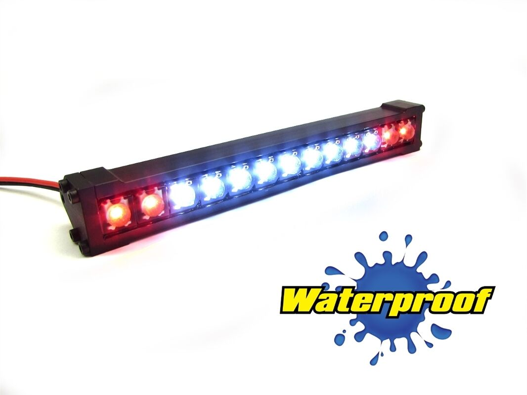 Gear Head RC 1 10 Scale Trail Torch 4  LED Light Bar - bianca and rosso GEA1354