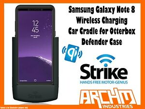 competitive price 44871 471ee Details about STRIKE ALPHA SAMSUNG GALAXY NOTE 8 CAR CRADLE OTTERBOX  DEFENDER WIRELESS CHARGER