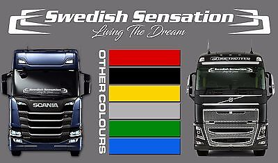 Printing & Graphic Arts Volvo Daf Iveco Mercedes Scania Man Truck Wagon Decal Sticker Boomerang Sunstrip