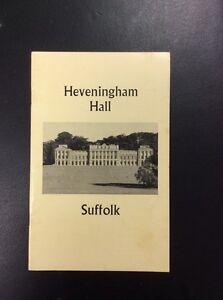 1973 Guide To Heveningham Hall Suffolk - Stowlangtoft, Suffolk, United Kingdom - 1973 Guide To Heveningham Hall Suffolk - Stowlangtoft, Suffolk, United Kingdom