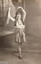 BJ228 Carte Photo vintage card RPPC Enfant déguisement costume danse espagne