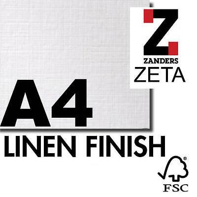 Marca Popular 50 Zeta Lino Blanco Brillante A4 100gsm Papel Afiligranado De Textura De Zanders En Venta
