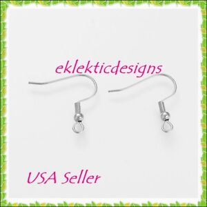 40pc-18mm-304-Stainless-Steel-French-Fish-Wire-Hook-Bead-Coil-Earrings-Findings