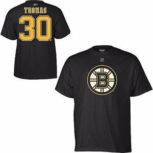 NHL Eishockey Name&Number Shirt BOSTON BRUINS Tim Thomas #30 black - GC
