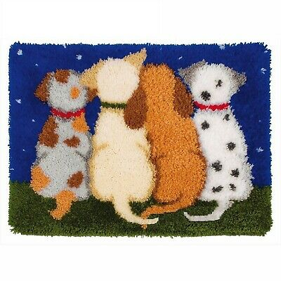 Puppy Dog Tails Latch Hook Rug Kit From